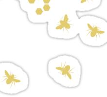 honeycomb bees Sticker