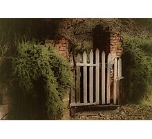 Garden Gate Photographic Print