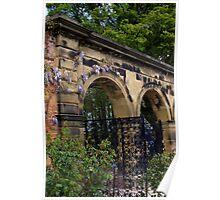 Alnwick Gardens, walled garden gateway Poster