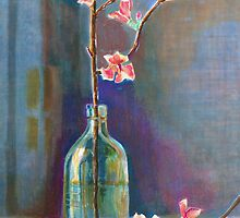 Cherry Blossoms In A Bottle by arline wagner