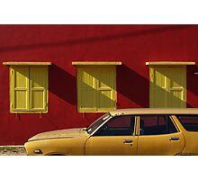 Red wall, Kuala Pilah Photographic Print
