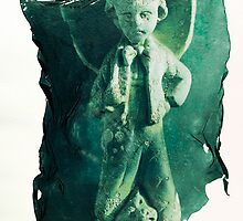 Photo of Green Boy Statue - by Paul Williams by Paul Williams