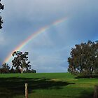 Rainbow over the farm, Western Australia by Ashley-Nicole