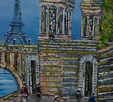 Eiffel Tower Paris by Tiaan Art Original Venter