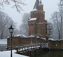 Kasteel Duurstede (Duurstede Castle) in Winter by Hans Bax