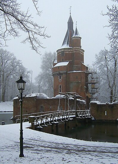 Kasteel Duurstede (Duurstede Castle) in Winter by Hans Bax