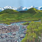 Mountain Creek ~ Western Landscape ~ Oil Painting by Barbara Applegate