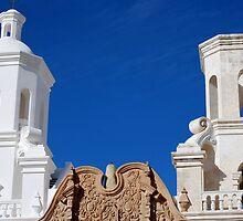 San Xavier Rooftops by claraneva