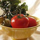 Tomato Still Life by LindieRacz