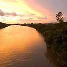 Terrific Colors of Sunset River by Chaordicphoton