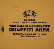Designated Graffiti Area by Prezlez