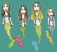 My Girls as Mermaids - Drawn by Tane (8) by micklyn