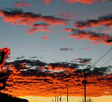 Steakhouse Arizona Sunset by Bradley Blalock by SphericSenseS