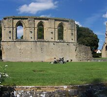 Glastonbury Abbey ruins by nealbarnett