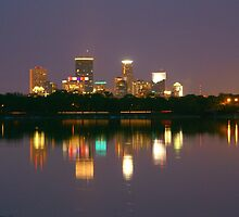 MPLS SKYLINE FROM LAKE CALHOUN  by pshootermike