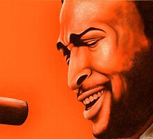 Marvin Gaye celebrity portrait by Margaret Sanderson