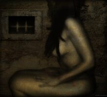 nude at a window by shawhouse