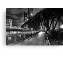 Portland Oregon at night Canvas Print