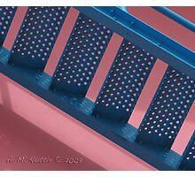Flamingo Airport Stairs Photographic Print