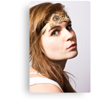 alessandra with headband Canvas Print