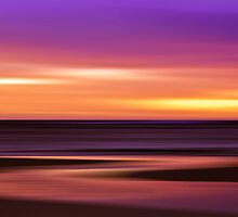 Slow Motion - abstract sunset by Jenny Dean