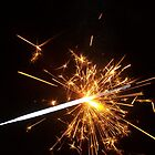 Half burnt Sparkler by Bernie Stronner