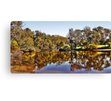 Amazing reflections in the Moore River Canvas Print