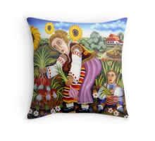 The  Onion  Harvest Throw Pillow