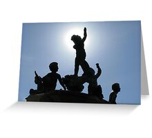 Heffelfinger Fountain Eclipse Greeting Card