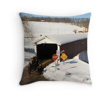 Jackson's Sawmill Covered Bridge Throw Pillow