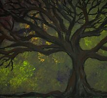 Tree of Dark Mood by Norma Ramey