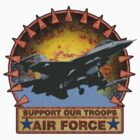 Air Force F-16, Support our Troops by drasel