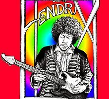 Jimi Hendrix Illustration by whiterabbitart