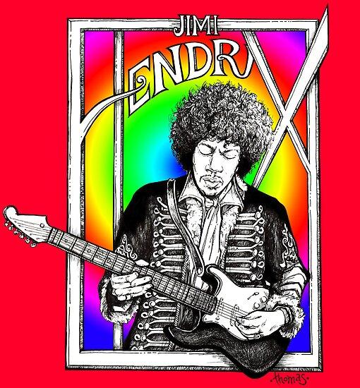 Jimi Hendrix Illustration by whiterabbitart