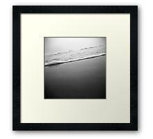 waves through a holga Framed Print