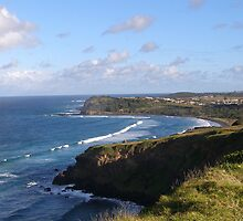 Coast line between Lennox Head & Ballina.  by Rita Blom