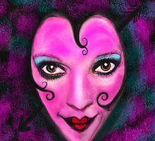 Queen of Hearts ( self portrait) by Julie Everhart