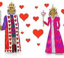 Tiger King and Queen of Hearts by SeaSerpent