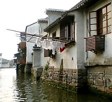 Air Dry, Grand Canal in Suzhou, China by nancyb926
