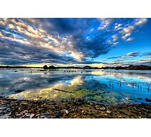 Willow Lake Reflect Blue-Second Look Photographic Print