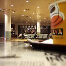 Coffee moment in airport by Bluesrose