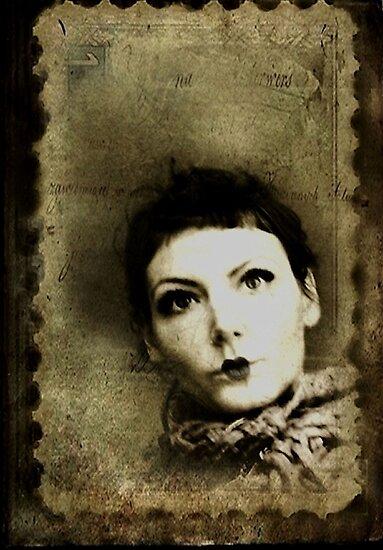 Doll stamp(self portrait) by Dorka