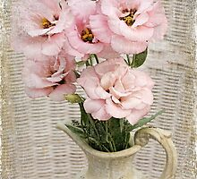 Vase of Lisianthus by Barb Leopold