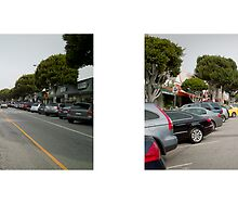 Larchmont Boulevard, Los Angeles, California, USA...narrowed. by David Yoon