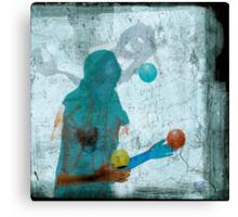femme et lune - woman and moon Canvas Print