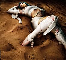 A Mummy. On the Sand.  by Noel Taylor