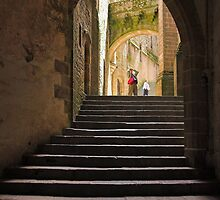 Steps on Mont St Michel by SWEEPER