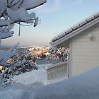 Vinter view from my window by Annbjørg  Næss