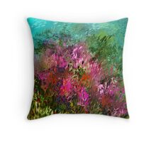 FLOWERS AT WATERS EDGE Throw Pillow