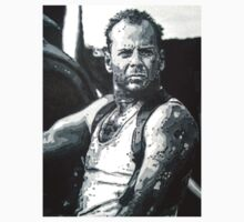 Bruce willis in die hard iconic piece by Deborah Boyle